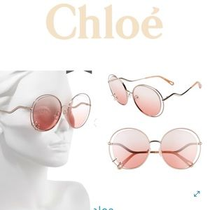 Chloé Wendy Rose Gold gorgeous sunglasses 59MM
